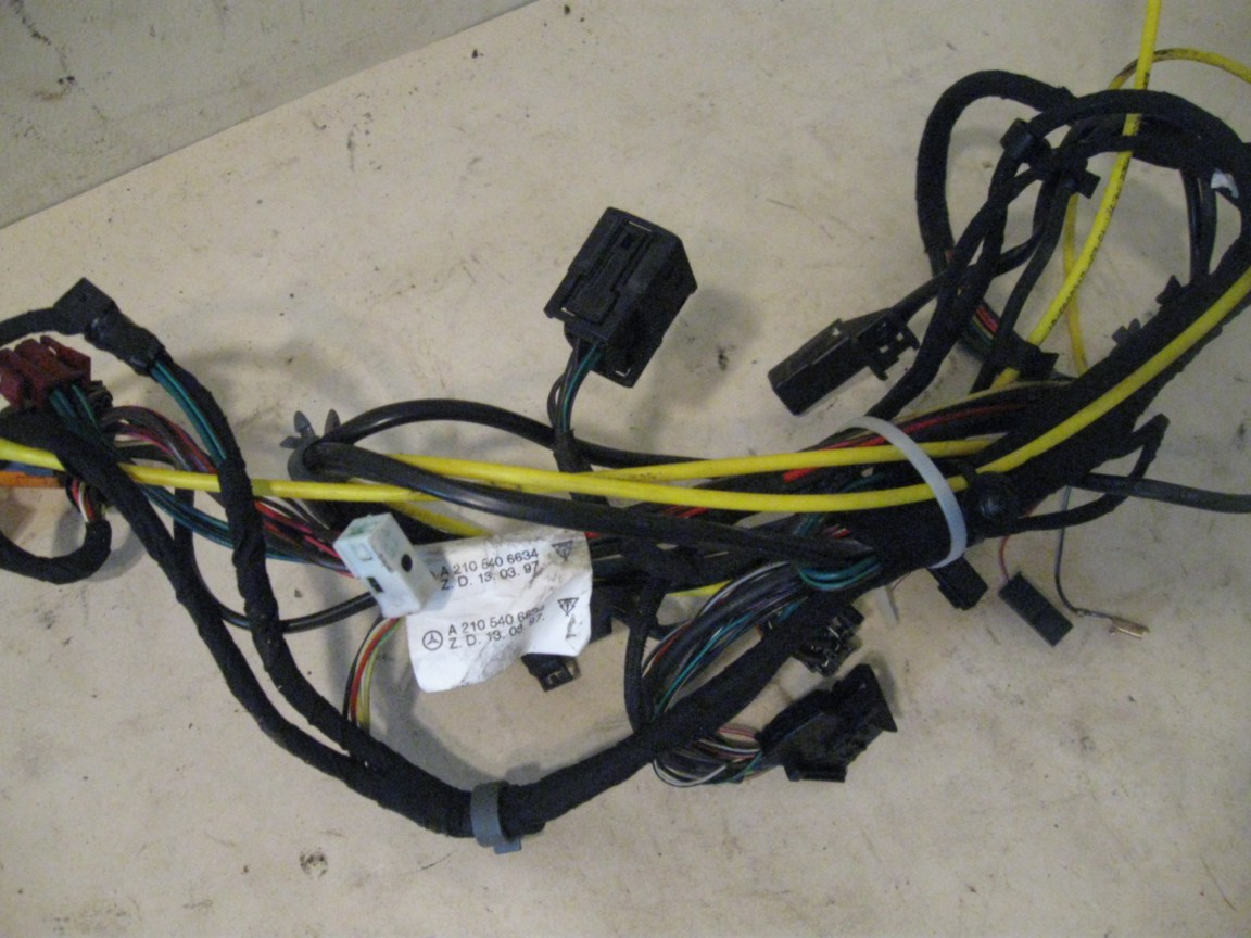 All Products Benzbonz Quality Pre Owned Mercedes Parts W124 Wiring Harness Issue Wire Left Front Door Mb P N 2105406634 W210