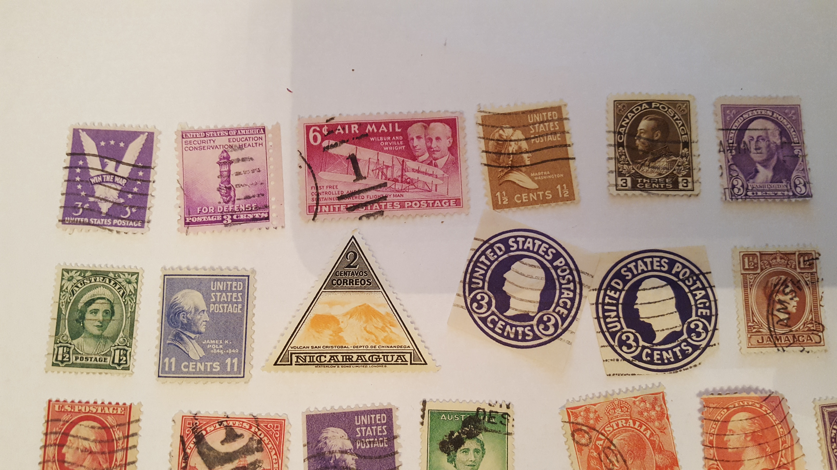 Cancelled stamps Worldwide 2 - Click Image to Close