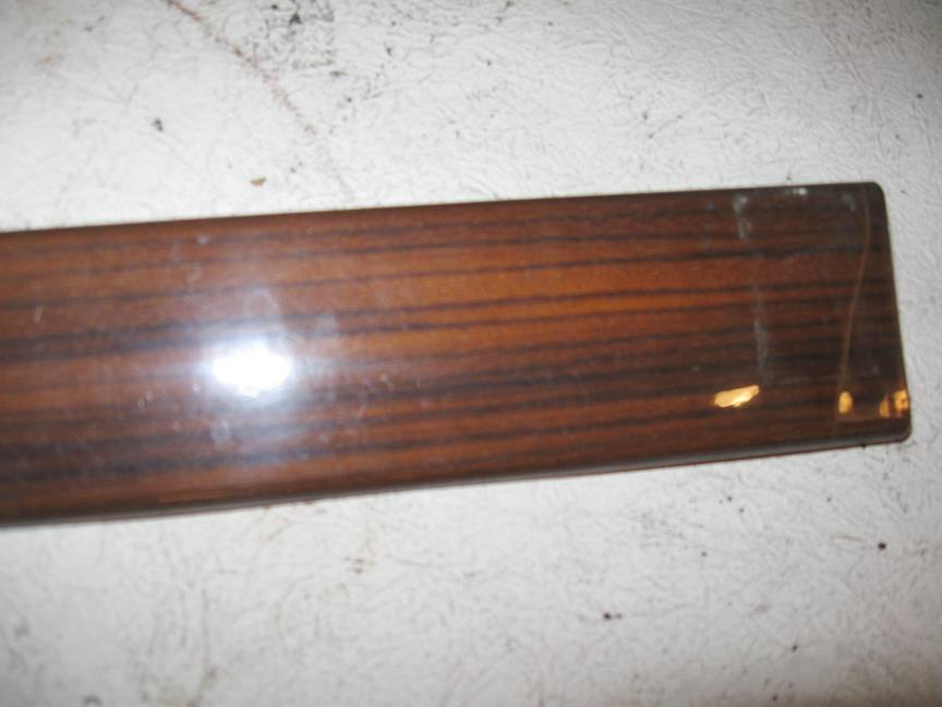Door - Garnish Moulding Wood Trim Left Rear Zebrano 1247300322 - Click Image to Close